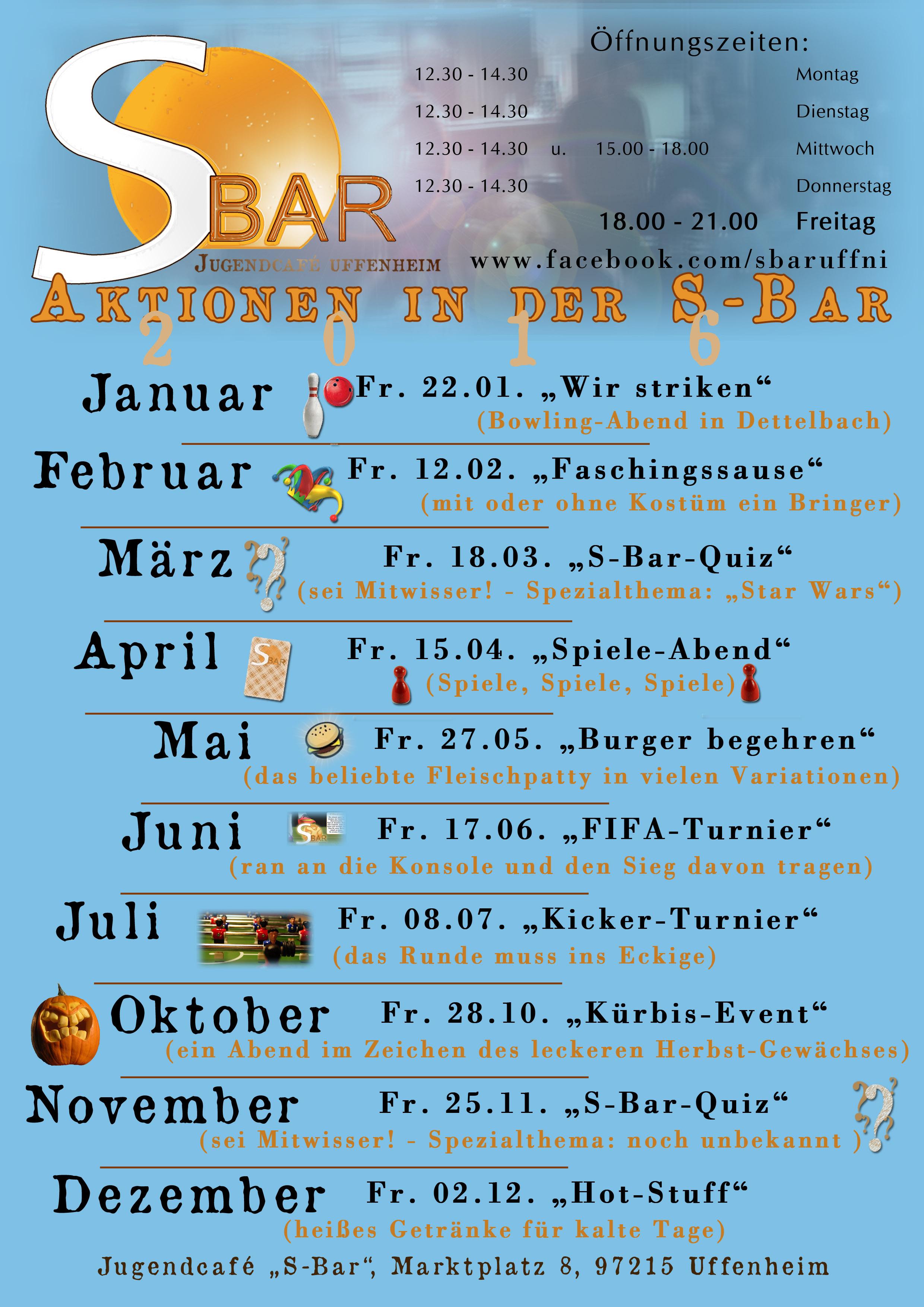 Jugendcafé S-Bar - Evangelische Jugend | EJ Uffenheim